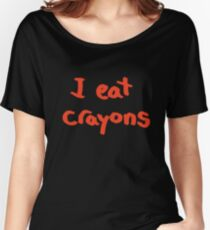 I eat crayons Women's Relaxed Fit T-Shirt