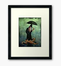 getting wet Framed Print