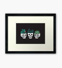 Skull Plants Trio Framed Print