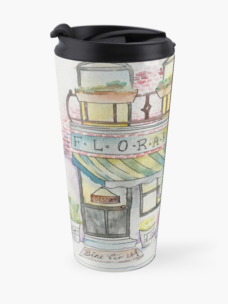 Alternate view of 'Florarie' The Florist Shop in Romania Travel Mug
