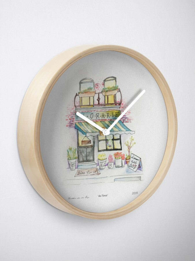 Alternate view of 'Florarie' The Florist Shop in Romania Clock
