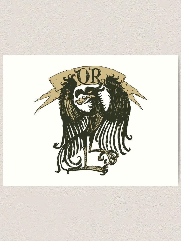 Alternate view of Golden heraldry Eagle Art Print