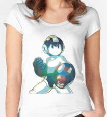 Mega Man Mega Buster - Type B Women's Fitted Scoop T-Shirt