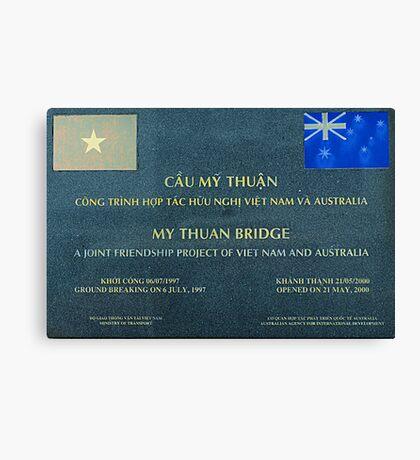 Friendship Bridge, Mekong Area of Viet Nam Canvas Print