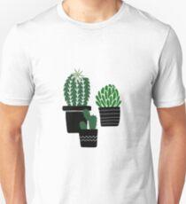 Succulents - black-green Unisex T-Shirt