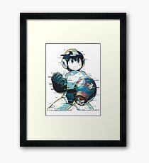 Mega Man Mega Buster - Type C [Glitch Remix] Framed Print