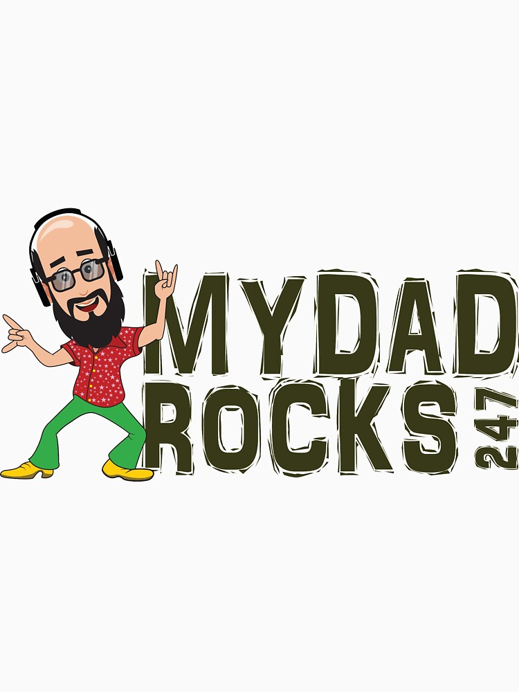 My Dad Rocks 24/7 - Logo by quitegr8
