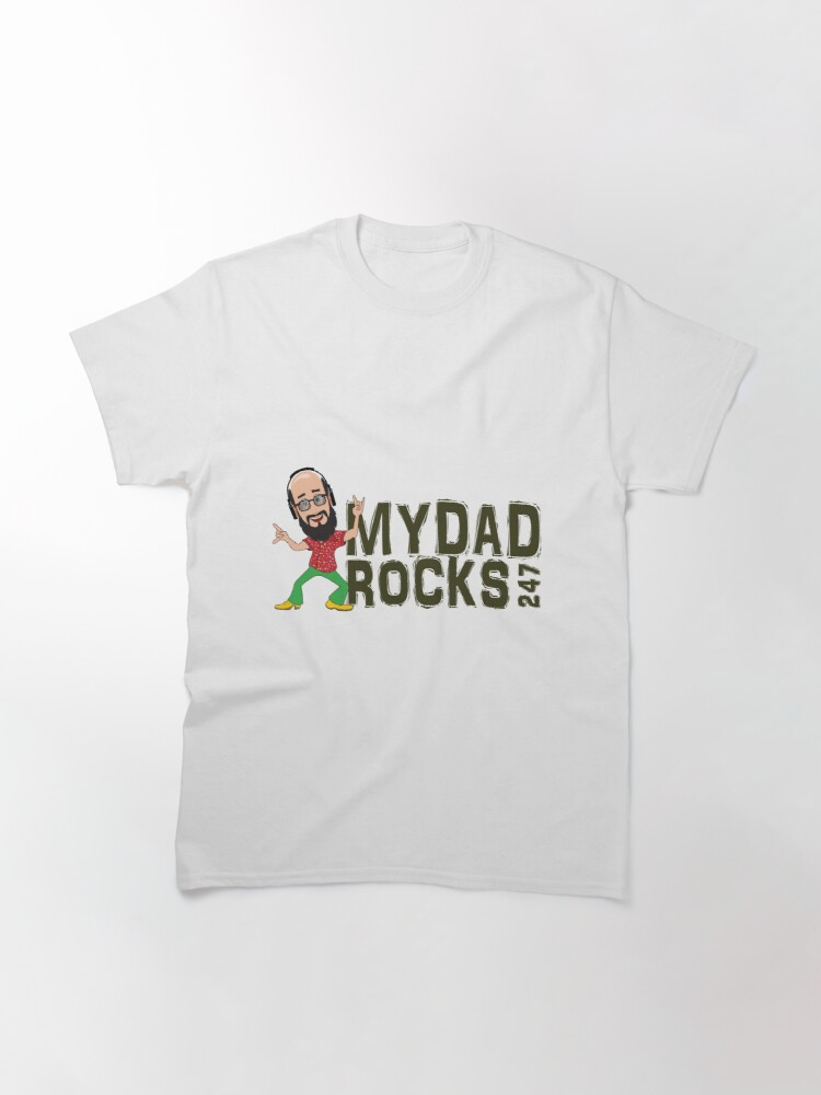 Alternate view of My Dad Rocks 24/7 - Logo Classic T-Shirt