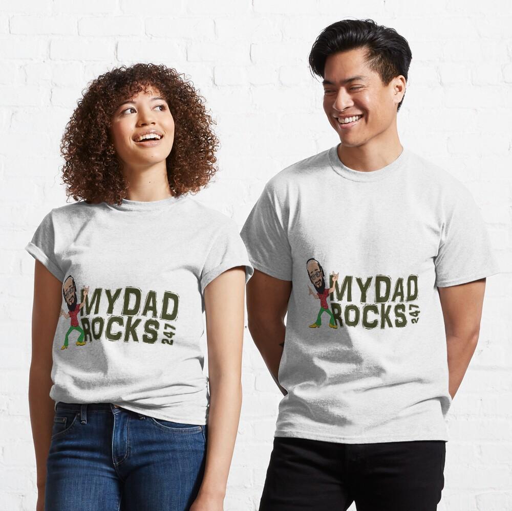 My Dad Rocks 24/7 - Logo Classic T-Shirt