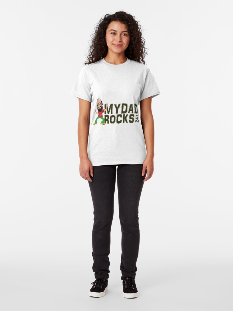 Alternate view of My Dad Rocks 24/7 - Logo Classic T-Shirt
