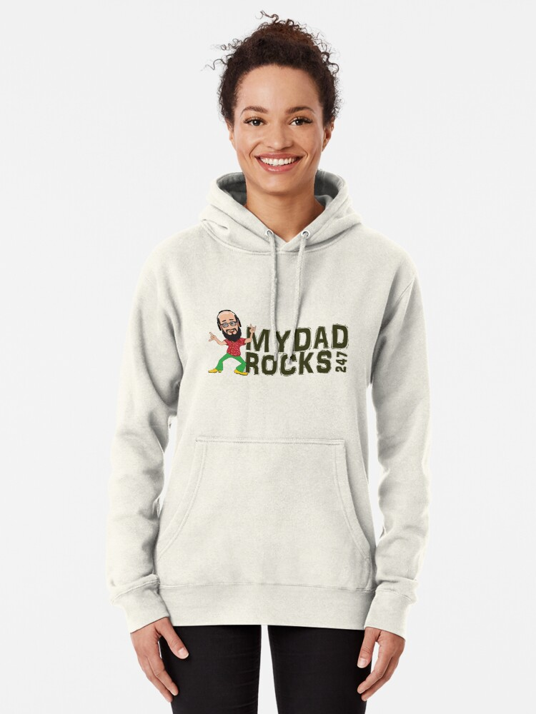 Alternate view of My Dad Rocks 24/7 - Logo Pullover Hoodie