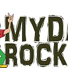 My Dad Rocks 24/7 - Logo by quitegr8