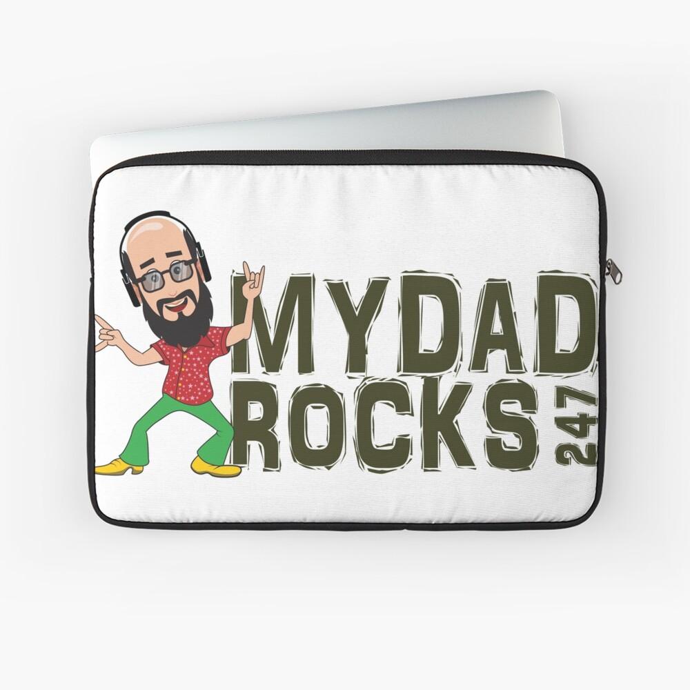 My Dad Rocks 24/7 - Logo Laptop Sleeve