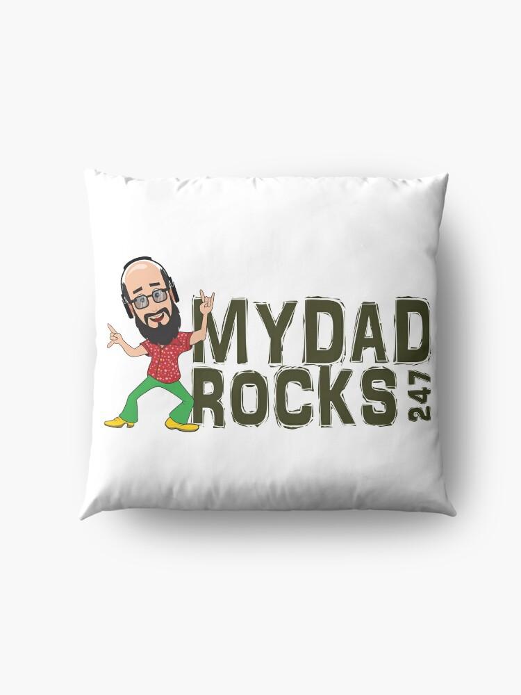 Alternate view of My Dad Rocks 24/7 - Logo Floor Pillow