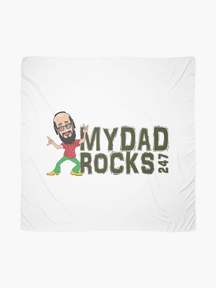 Alternate view of My Dad Rocks 24/7 - Logo Scarf