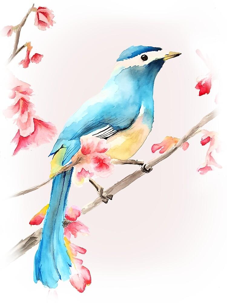 Bird & Blossoms by 05dastarli