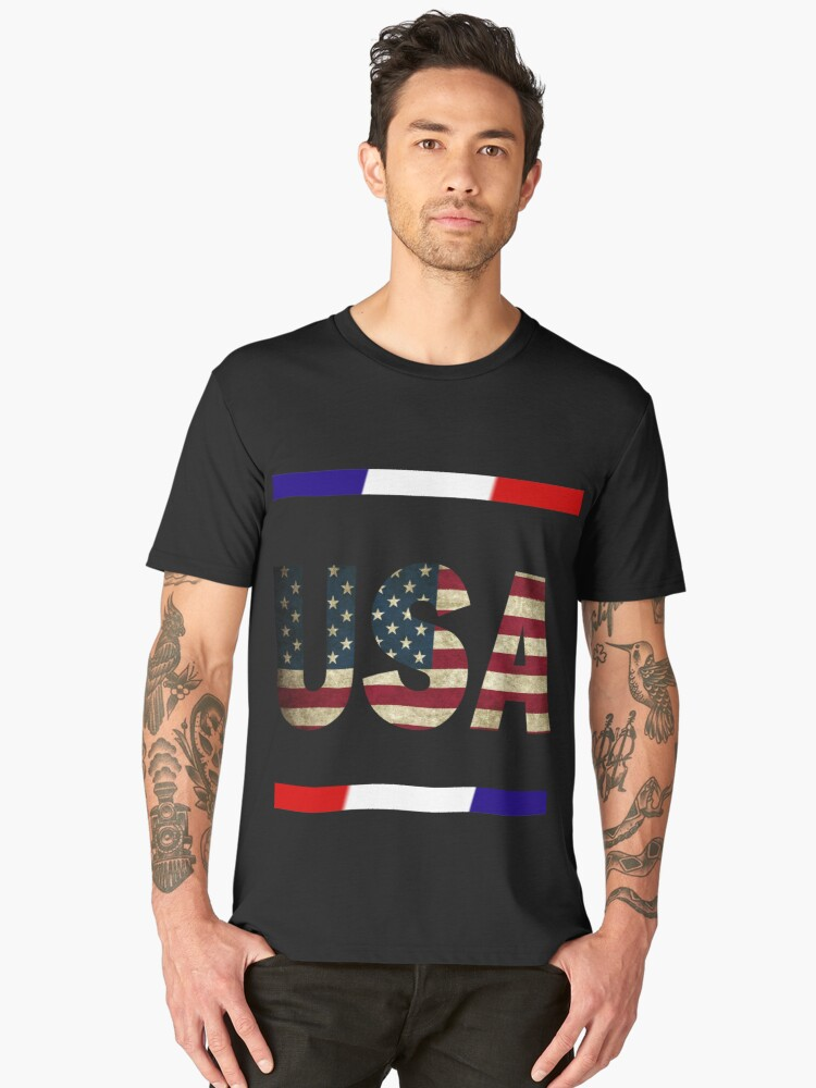 USA Artistic Design Shirts And Travel Mugs Men's Premium T-Shirt Front