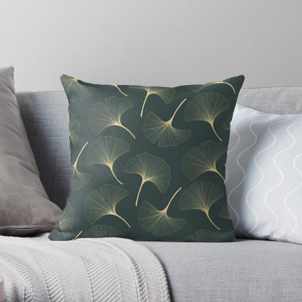 Royal Green Pattern Dekokissen