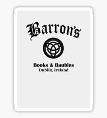 Barrons Books and Baubles Sticker