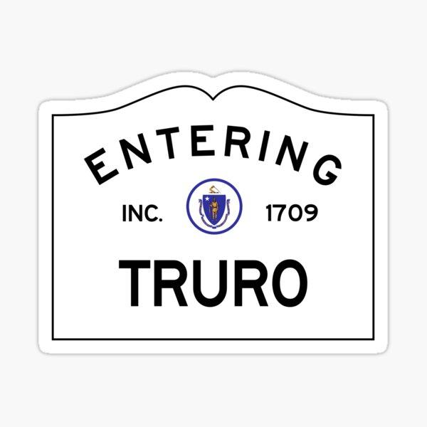 Entering Truro Massachusetts - Commonwealth of Massachusetts Road Sign Sticker