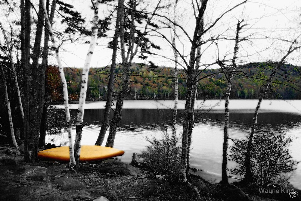Canoe at Russell Pond by Wayne King
