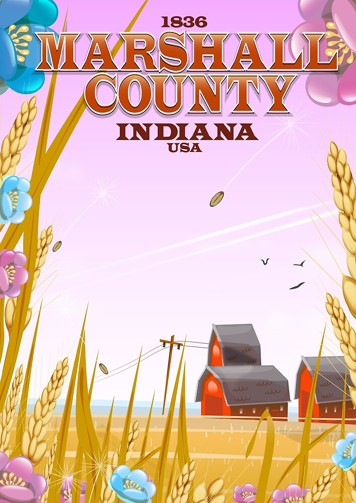 Marshall County, Indiana by vectorwebstore