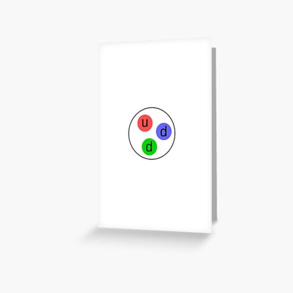 Physics Prints,  Neutron, Subatomic Particle, Nuclear Physics Greeting Card