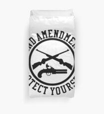 2nd Amendment Protect Yourself Duvet Cover