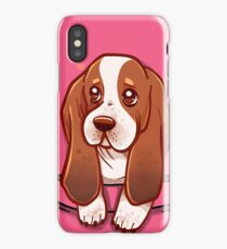 Pocket Cute Basset Hound iPhone Case/Skin