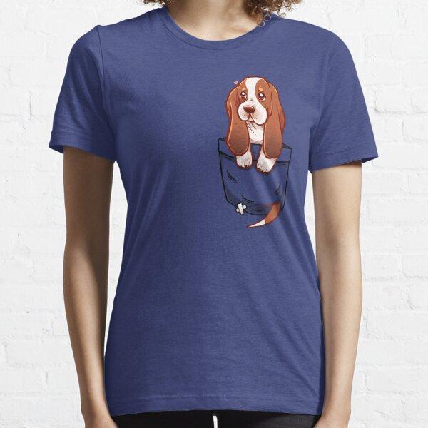 Pocket Cute Basset Hound Essential T-Shirt