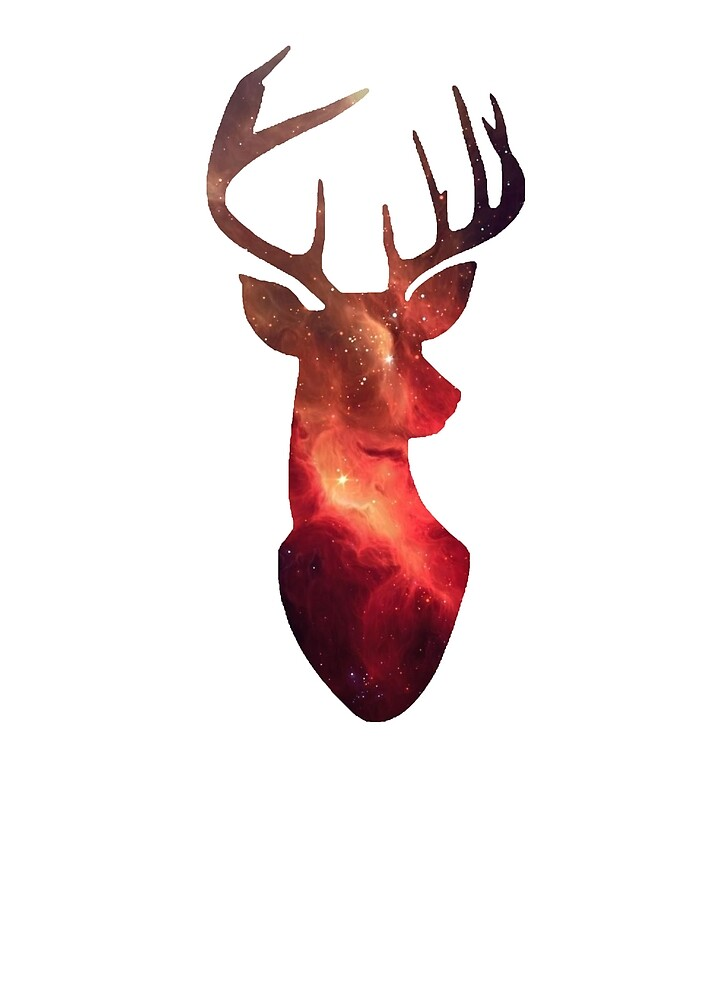 Galaxy Deer Graphic by StanIey