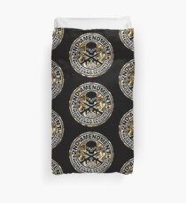 Second Amendment with Skull and Bullets Duvet Cover