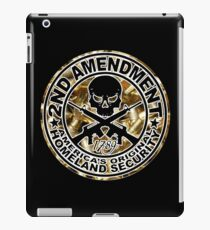 Second Amendment with Skull and Bullets iPad Case/Skin