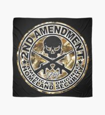 Second Amendment with Skull and Bullets Scarf