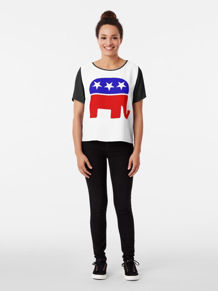 Vista alternativa de Blusa Elefante republicano
