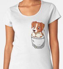 Pocket Cute Jack Russell Terrier Women's Premium T-Shirt