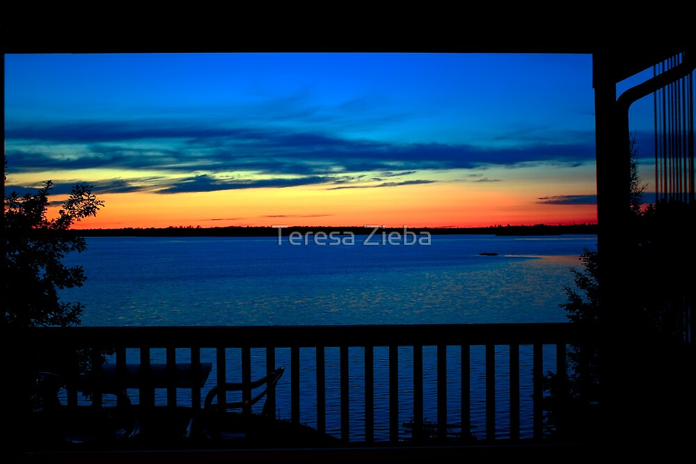 Sunset at Eleanor Lake by Teresa Zieba