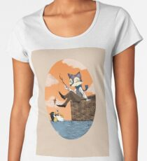 Just the two of us - Fox and Penguin Women's Premium T-Shirt