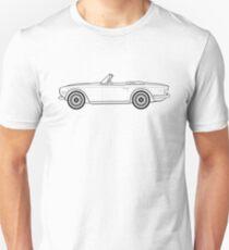 Triumph TR6 Classic Car Outline Artwork  Unisex T-Shirt