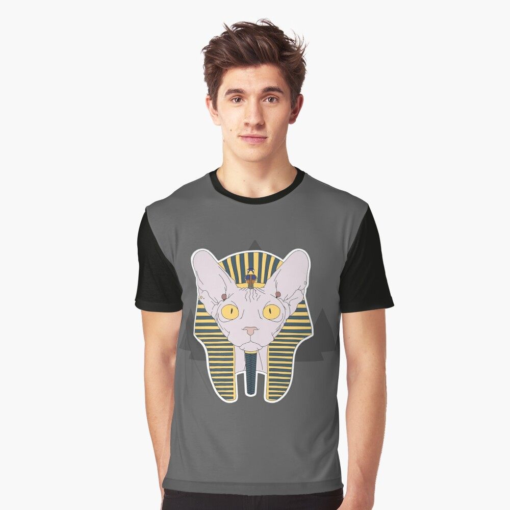 Pharaoh cat Graphic T-Shirt Front