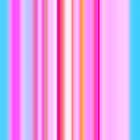 Stripes Blue and Pink by heidiannemorris