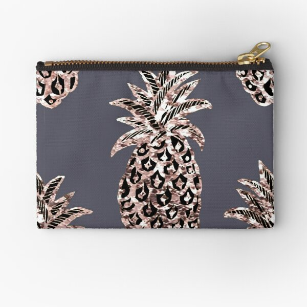 Rose Gold Sparkle Pineapple Zipper Pouch