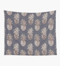 Rose Gold Sparkle Pineapple Wall Tapestry
