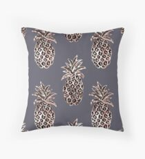 Rose Gold Sparkle Pineapple Throw Pillow