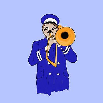 Trombone Sloth by Dak-Mallard