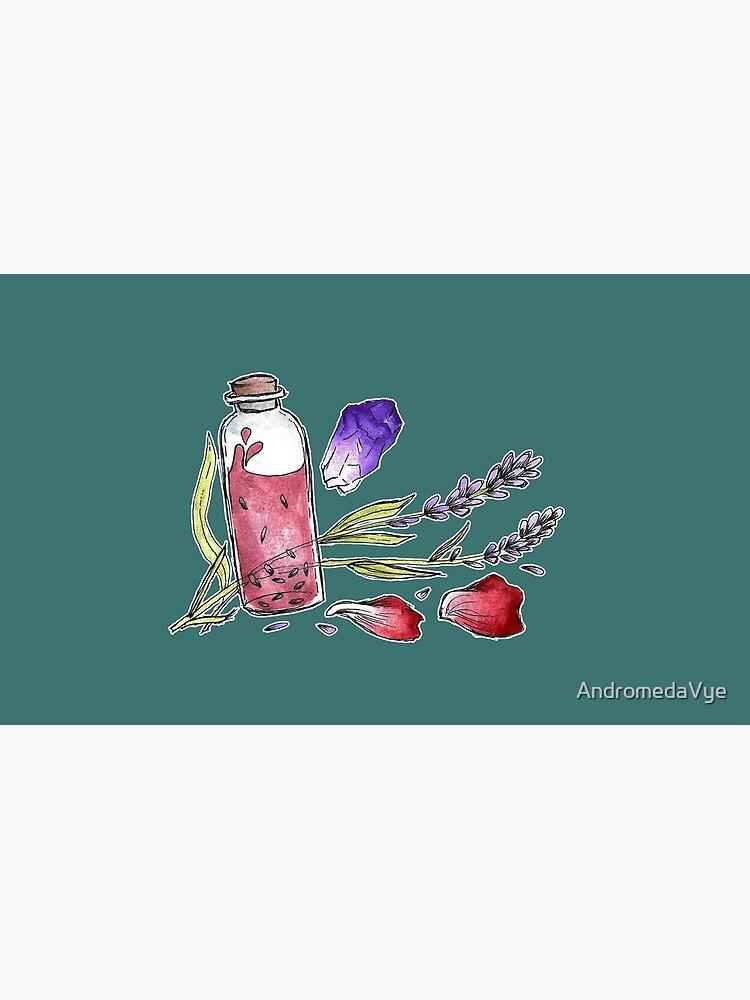 Bottled Flowers - On Green by AndromedaVye