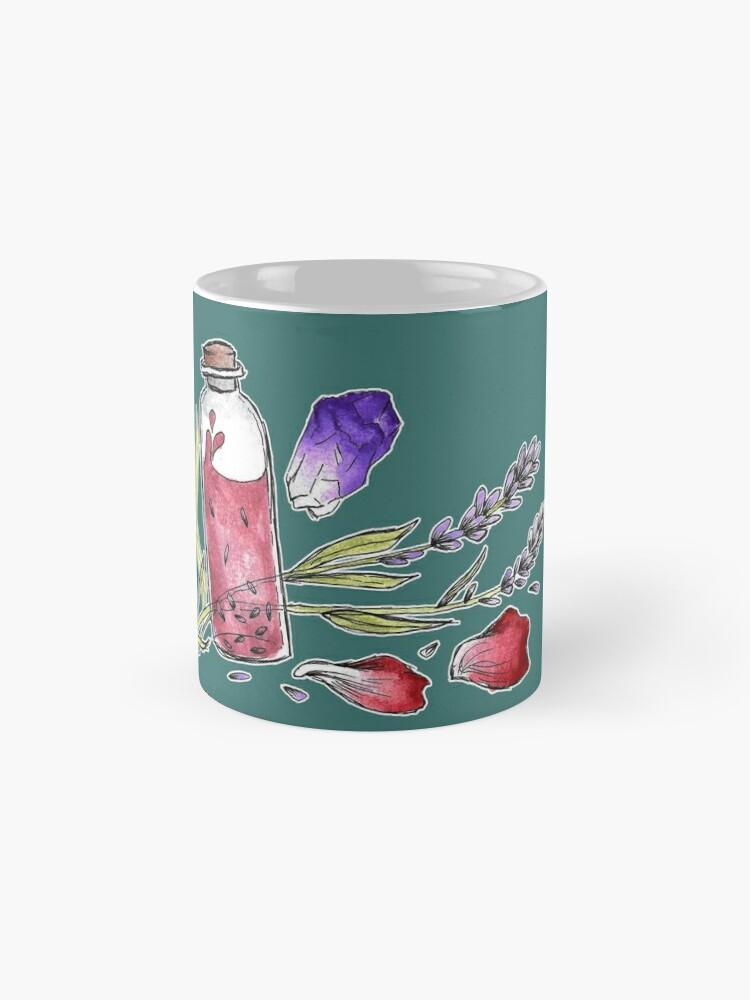 Alternate view of Bottled Flowers - On Green Mug
