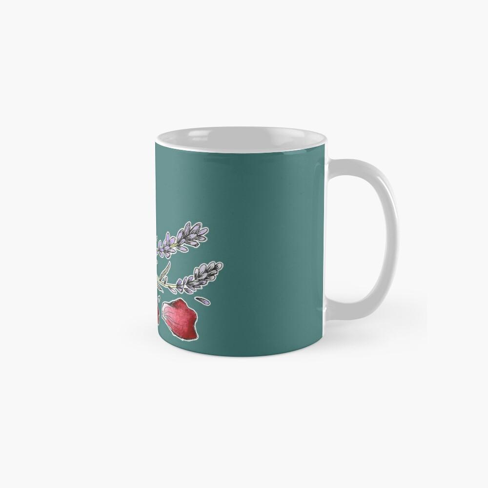 Bottled Flowers - On Green Mug