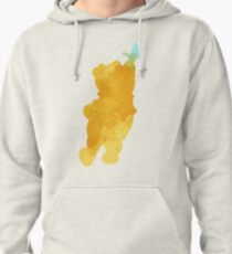 Bear and butterfly Inspired Silhouette Pullover Hoodie