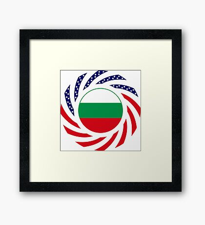Bulgarian American Multinational Patriot Flag Series Framed Print